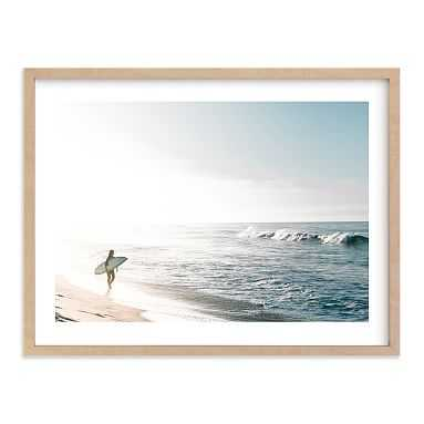 Surfer Girl Wall Art by Minted(R), 18 x 24, Natural - Pottery Barn Teen