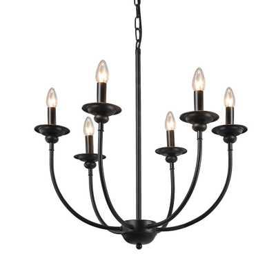 LNC 6-Light Black Chandelier - Home Depot