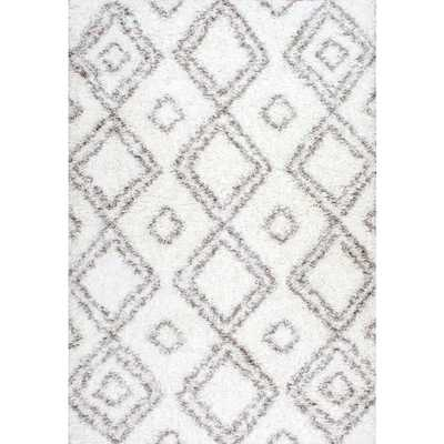 Iola Easy Shag White 9 ft. x 12 ft. Area Rug - Home Depot