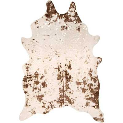 nuLOOM Iraida Faux Cowhide Brown 3 ft. 10 in. x 5 ft. Shaped Rug - Home Depot