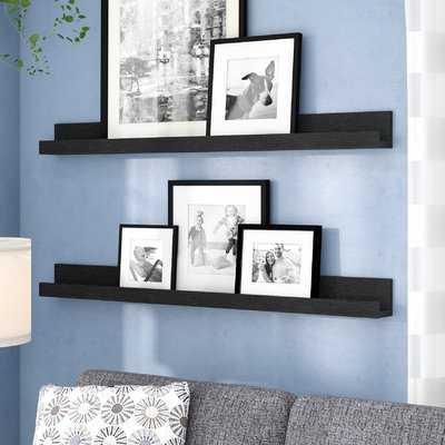 Dulin Photo Ledge Picture Display Floating Shelf- set of 2 - Wayfair