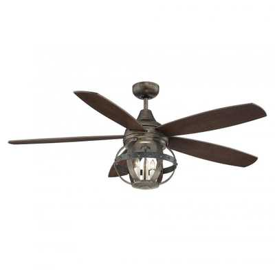 Illumine Aumbrie 52 in. Reclaimed Wood Indoor/Outdoor Ceiling Fan - Home Depot