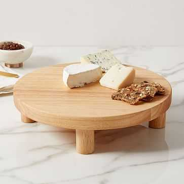 Pedestal Wood Cheese Stand - West Elm