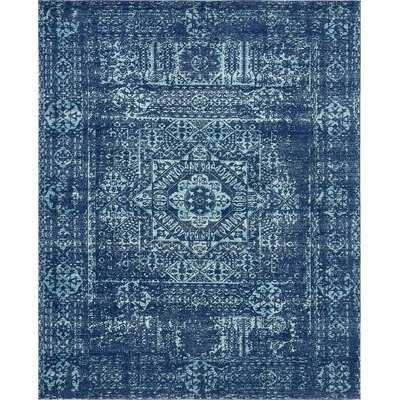 Cristian Navy Blue Area Rug - Wayfair