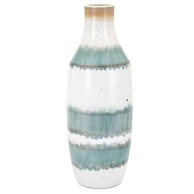 KC Blue/White Table Vase - Wayfair