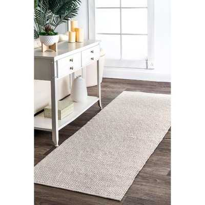Asther Hand-Woven Taupe Area Rug - Birch Lane