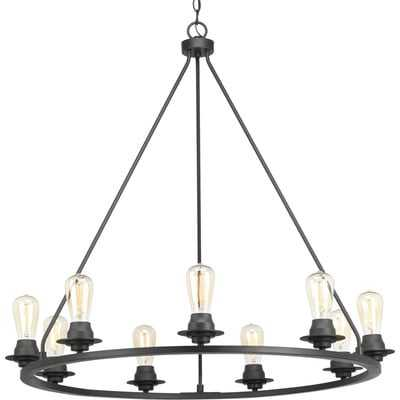 Miesha 9-Light Candle Style Wagon Wheel Chandelier - AllModern