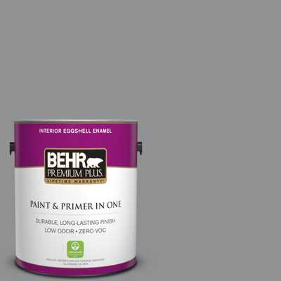 BEHR Premium Plus 1 gal. #N520-4 Cool Ashes Eggshell Enamel Zero VOC Interior Paint and Primer in One, Grays - Home Depot