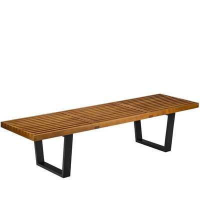 Slat Wood Bench - Wayfair