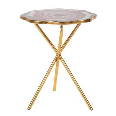 Safavieh Celeste Multi/Gold Side Table - Home Depot