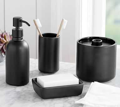 Black Ceramic Accessories - Toothbrush - Pottery Barn
