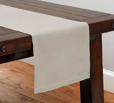 "PB Classic Table Runner - Flax, 108"" - Pottery Barn"