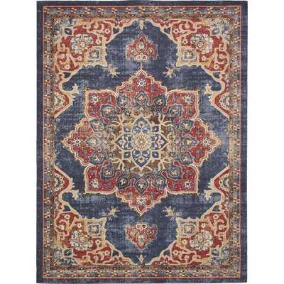 Dulin Blue/Rust Red Area Rug - Wayfair