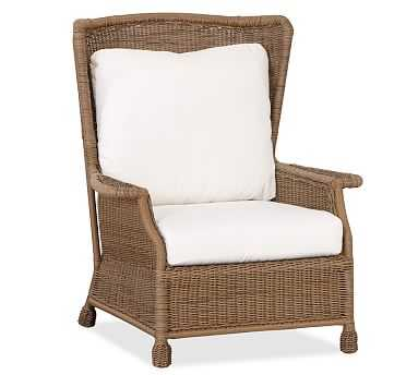 Saybrook All-Weather Wicker Armchair - Pottery Barn