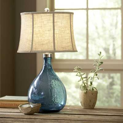 "Sapphire Glass 31"" Table Lamp - Birch Lane"