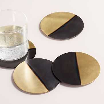 Half Dipped Metal Coasters, Set of 4 - West Elm
