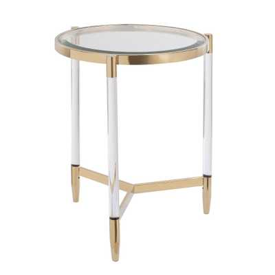 Colter Acrylic End Table Gold - Aiden Lane - Target