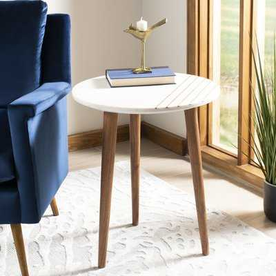 Leatrice Round Marble End Table - Wayfair