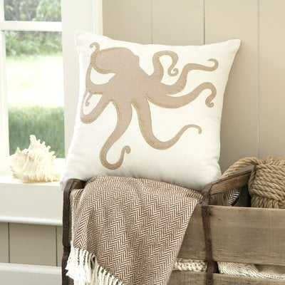 Amesbury Octopus Embellished Pillow Cover - Wayfair