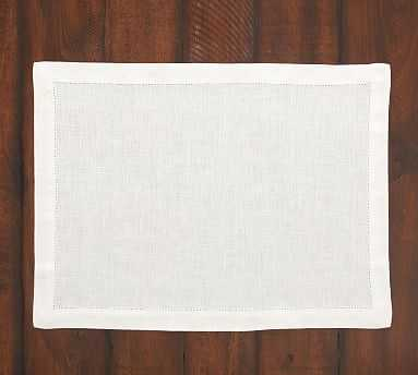 PB Classic Placemat, Set of 4 - White - Pottery Barn