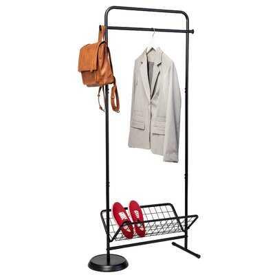 Giancarlo Entryway Valet Coat & Shoe Rack, Black - Wayfair