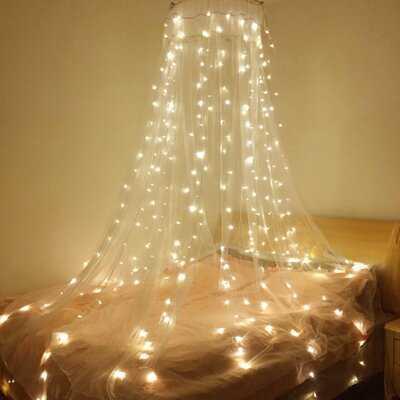 Vanbuskirk 9.8 ft. 320-Lights Curtain String Light - Birch Lane