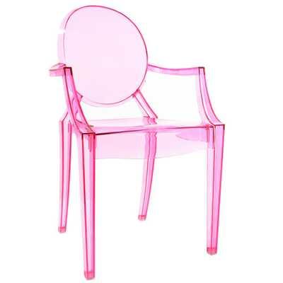 Poly and Bark Burton Pink Arm Chair - Home Depot