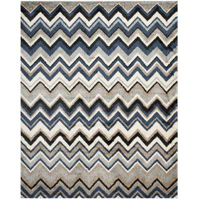 Tahoe Grey / Light Blue Geometric Rug - Wayfair