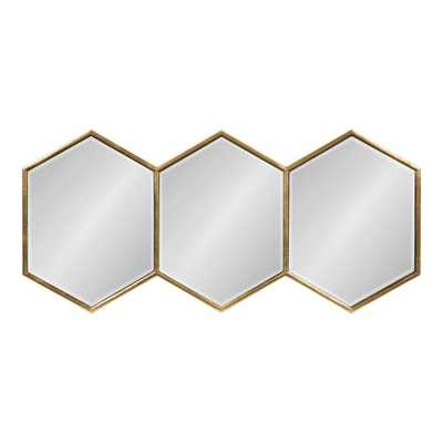 Royce Hexagon Gold Wall Mirror - Home Depot