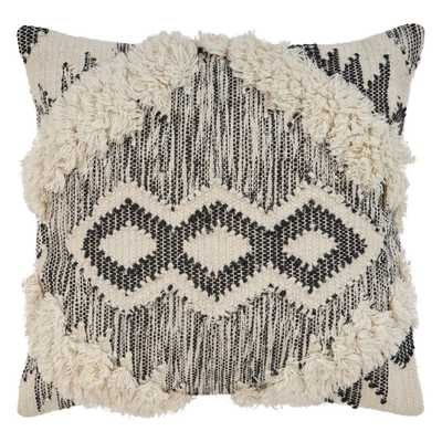 Ranch Style Ivory and Black 20 in. x 20 in. Throw Pillow, Ivory/Black - Home Depot