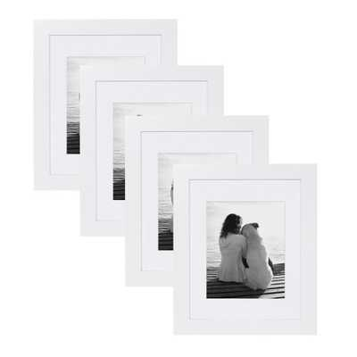 Museum 11x14 matted to 8x10 White Picture Frame (Set of 4) - Home Depot
