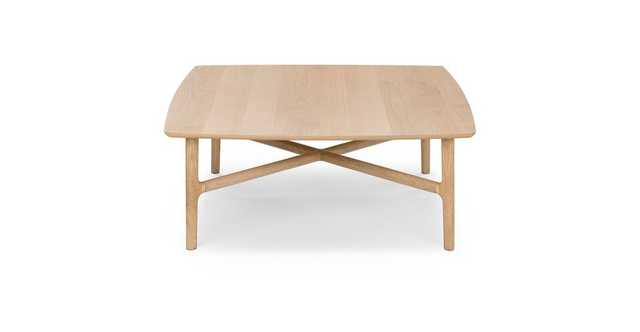 Brezza Light Oak Square Coffee Table - Article