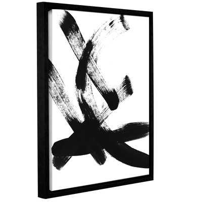 'Brush Stroke I' Framed Print of Painting - Wayfair