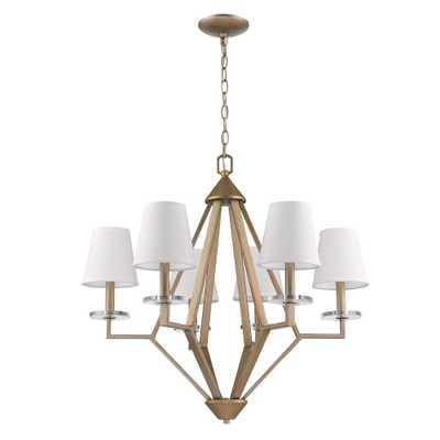 Acclaim Lighting 6-Light Washed Gold Chandelier - Home Depot