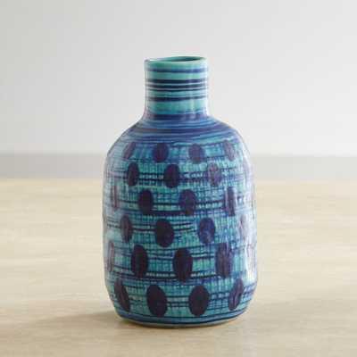 Zia Blue Mini Vase - Crate and Barrel