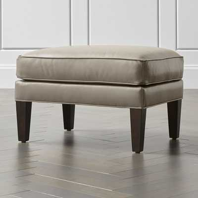 Luxe Leather Ottoman - Crate and Barrel