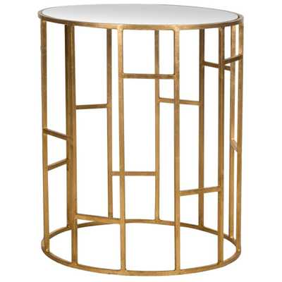 Doreen Gold End Table - Home Depot
