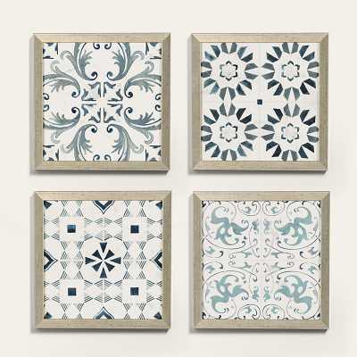 Ballard Designs Arabesco Patterned Tile Art, Print III - Ballard Designs