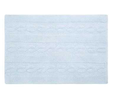"""Lorena Canals Braids Washable Rug Soft Blue Small 2' 6"""" x 4' - Pottery Barn Kids"""