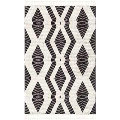 Macalla Global-Inspired Black/White Area Rug - Wayfair