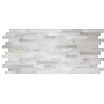 MSI Greecian White Veneer 8 in. x 18 in. x 10 mm Tumbled Marble Mesh-Mounted Mosaic Tile (10 sq. ft. / case) - Home Depot