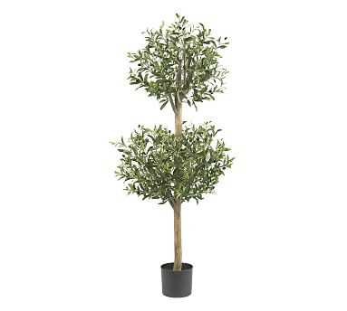 Faux Potted Olive Double Topiary Tree - Pottery Barn