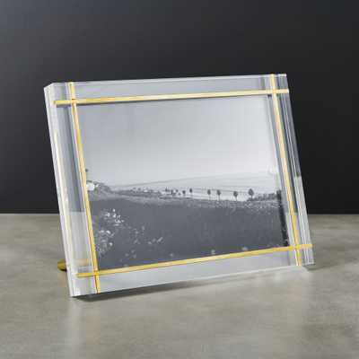 "Stella Brass Inlay Acrylic Photo Frame 5""x7"" - CB2"