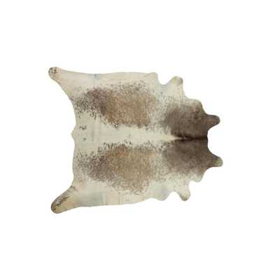 Lifestyle Group Distribution Kobe Salt and Pepper Taupe/White 6 ft. x 7 ft. Cowhide Rug, Salt & Pepper Taupe/White - Home Depot