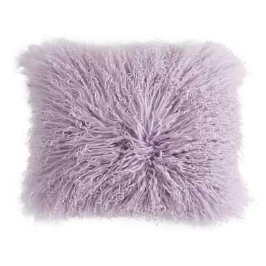 Mongolian Fur Pillow Cover, 12 x 16, Dusty Lilac - Pottery Barn Teen