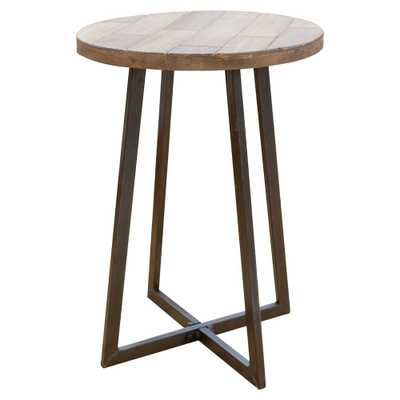FirsTime & Co. Miles Rustic Wood Table, Natural Wood - Home Depot