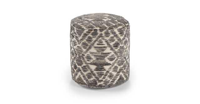 Zuni Sandstone Gray Small Pouf - Article