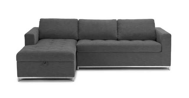 Soma Twilight Gray Left Sofa Bed - Article