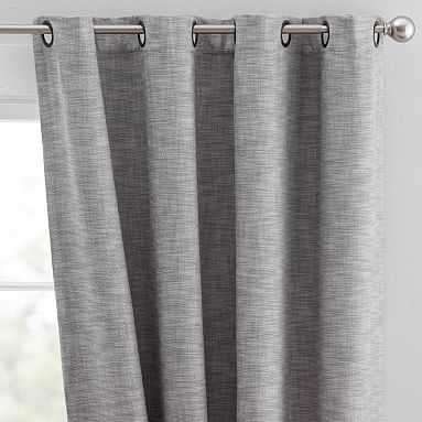 "Seaton Grommet Blackout Drape, 84"", Gray - Pottery Barn Teen"