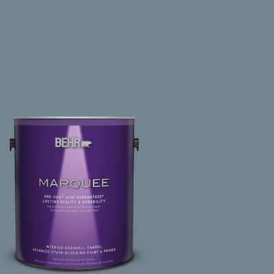 BEHR MARQUEE 1 gal. #N480-5 Adirondack Blue One-Coat Hide Eggshell Enamel Interior Paint, Blues - Home Depot